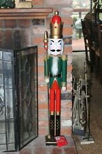 """Large Hand Crafted Wooden """" King With Staff """"  42"""" Tall Nutcracker"""