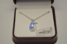 Aurora Borealis Teardrop Pendant Necklace w Swarovski Elements Crystal  Gift Box