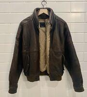 Vintage Mark Shale Mens Size 40 Leather Bomber Jacket w/ Thinsulate