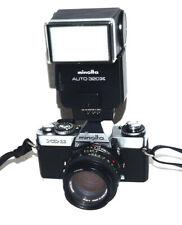 Minolta XD-11 Black Body 35mm Film Camera 50mm f2.0 Flash/Motor Drive Bundle Kit