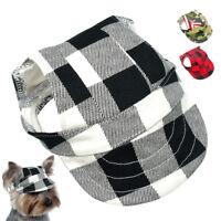 Canvas Summer Cat Dog Baseball Cap Sun Protect Visor Outdoor Black Dog Hat S ML
