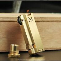 Handmade vintage kerosene brass gasoline lighter, Collect antique war cigarette