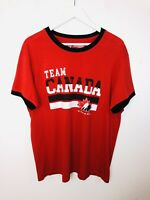 SOGO Team Canada Ice Hockey T-shirt Tee Top Red Short Sleeve Canadian XL Men's