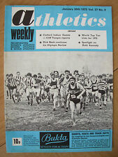 ATHLETICS WEEKLY JANUARY 20th 1973 MALCOLM THOMAS CROSS COUNTRY