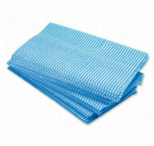 50 x Large All Purpose Blue Cleaning Cloths Car Kitchen Wiping Dusters