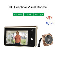 Smart Wireless WiFi HD Peephole Video Doorbell for IOS & Android Home Security