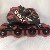 Vanilla Blackmail Speed Inline Skates Rollerblades Carbon Size 6 Women SZ 5 Men