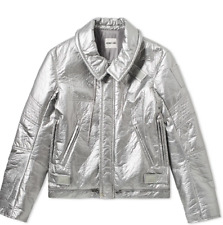 NEW HELMUT LANG RE-EDITION SILVER ASTRO MOTO BIKER JACKET SZ XL $895 SOLD OUT