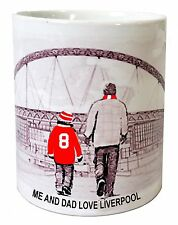 Liverpool Mug Football shirt Fathers Day Xmas New Gift PERSONALISED