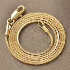 Classic 9K Yellow Gold Filled Womens Snake Chain Necklace,F5147