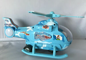BUMP & GO BATTERY OPERATED HELICOPTER FLASHING LIGHT AND SOUND TOY FOR KIDS 3+