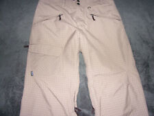 Patagonia h2no Men's Brown Plaid Lined Winter Skiing Snowboarding Outdoor Pants