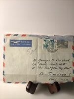 Swiss Stamp 1954 Letter San Francisco Air Mail Par Avion Consulate Helvetia
