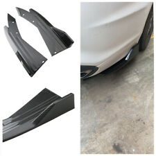 2Pcs Glossy Carbon Look Car Racing Splitter Diffuser Fit For Bumper Rear Lip