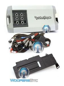 pkg ROCKFORD FOSGATE TM400X4AD + RFX3-K8 4 CH AMPLIFIER WIRING PLATE CAN AM X3