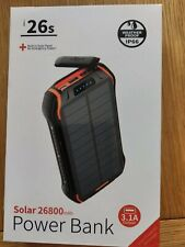26800mAH Portable Power Bank with built-in Solar Charger usb