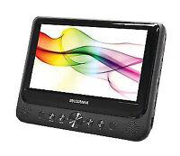"""Sylvania SDVD9805 9"""" Dual-Screen Portable DVD Player SD Card USB 16:9"""