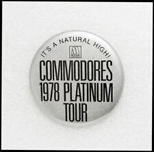 Commodores 1978 Platinum Tour Concert Button Pin Badge Motown Records