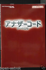 JAPAN  Another Code Two Memories Nintendo Guide Book