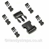 Side Release Buckles Clip 6 x 20mm for webbing Plastic Quick Release Buckles