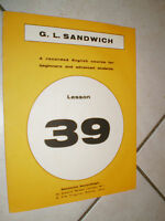 FASCICOLO G.L. SANDWICH recorded ENGLISH N. 39 course for beginners and students