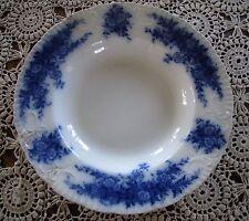 Antique 9 inch Burgess & Leigh Flow Blue Soup Salad Bowl Mabelle