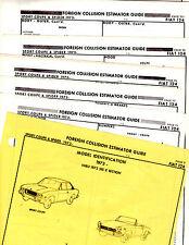 1973 ONWARDS FIAT 124 SPORT COUPE SPORT SPIDER BODY PARTS LIST CRASH SHEETS MFRE