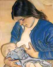 Motherhood by Stanislaw Wyspianski - Breastfeeding Mother Child 8x10 Print 1784B