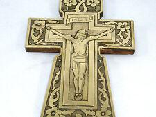 Metallobjekte Kreuz Stern Bronze Korona Antiquität Alt Handarbeit Massiv Relief Deko Sammler