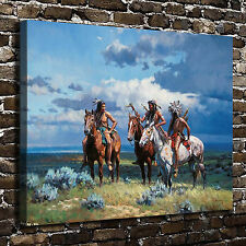 Native American Riding Paintings HD Print on Canvas Home Decor Wall Art Picture