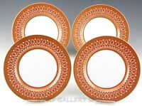 "Fitz and Floyd GOLD PAVILION 7.5"" SALAD PLATES Set of 4"