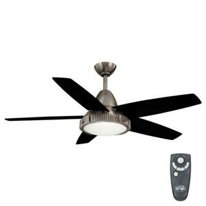 Hampton Bay Thorton 52 in. Indoor Gunmetal Ceiling Fan with Light Kit and Remote