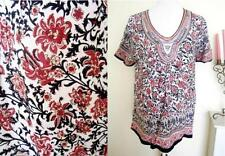 Embroidered Short Sleeve Plus Size Tops & Shirts for Women