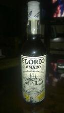 """Vini/Caffe'/Whisky/Amaro/Liquore In Bottiglia """" FLORIO """" Elisir Della Compagnia"""
