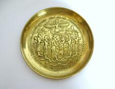 Wall Plate Um 1880 Judaica King David And The Lion