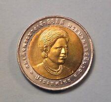 2005 Thailand 10 Baht Coin Queen Sirikit Food Safety Award Thai Bi Metallic