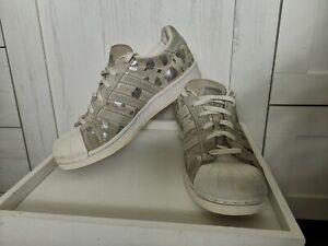 Sneaker Adidas Superstar Damen Gr. 39 grau Wildleder Schuhe
