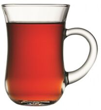Pasabache Keyif Set of 6 Tea Glasses with Handles 6 Handled Mugs 140ml