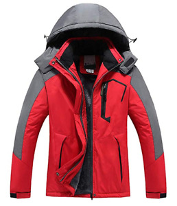 Couple Men & Ladies Mountain Waterproof Fleece Ski Jacket Windproof Rain Jacket
