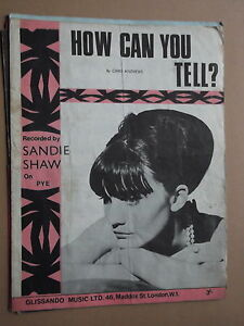 SANDIE SHAW - HOW CAN YOU TELL sheet music
