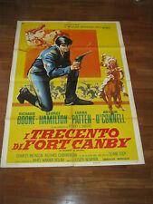 MANIFESTO,WESTERN,I TRECENTO DI FORT CANBY ,Joseph Newman ,1961,Richard Boone