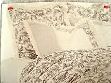 Fieldcrest King Floral Striped Ruffled Embroide Solid Jacquard Quilt Pillow Sham