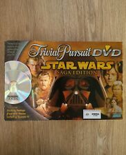 Star Wars Trivial Pursuit Parker Brothers DVD Board Game Saga Edition Complete