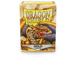 Matte Gold Case Display Dragon Shield Standard Size Sleeves - 10 Packs