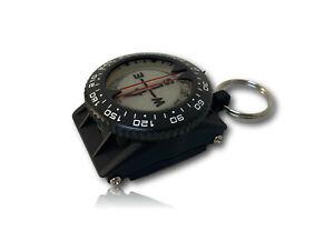 Tecnomar Tauch-Kompass mit Schlüsselring, für Retraktor, Compass, +/- 20°