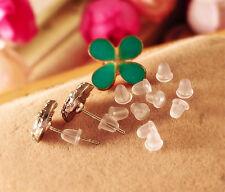 Wholesale 500pcs Rubber Earring Backs Stoppers Ear Post Nuts For Earrings
