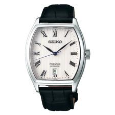 全新現貨SEIKO精工 Presage 自動 白色錶盤Tonneau Case 手錶 SRPD05J1  HK*1