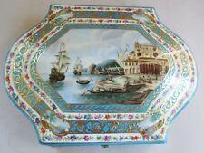 "Superb Antique 12"" Russian Porcelain Hand-Painted Box  GARDNER  c. 1880  Signed"