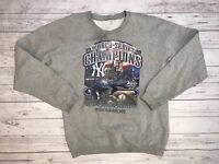 Vintage New York Yankees World Series Sweater Mens Large 90s 1998 Jeter Wtc Mlb