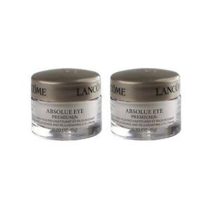 2 Lancome Absolue Eye Premium Bx Absolute Replenishing Eye Cream 0.2 oz ea New